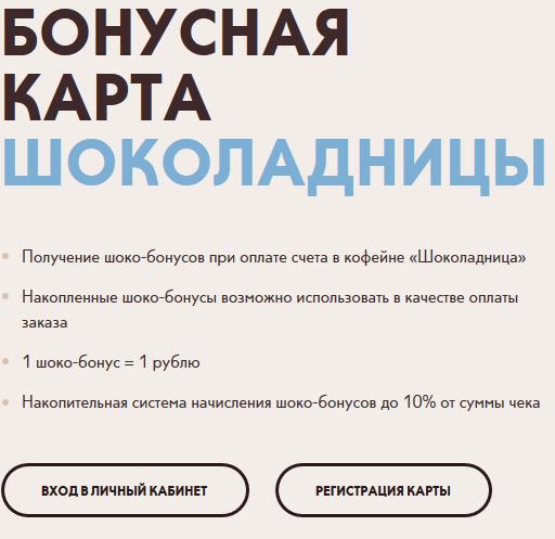 регистрация карты Шоко ру